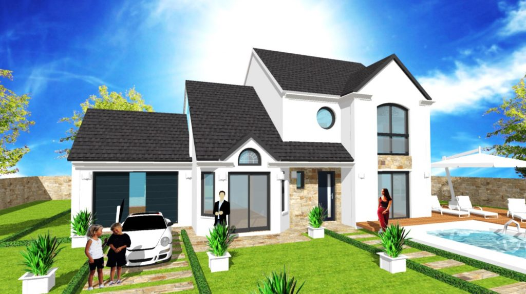 Bien choisir sa gouttiere zinc, aluminium corniche ou pvc blanc, gris anthracite, crème ou marron ou havraise, pour sa construction de maison neuve.
