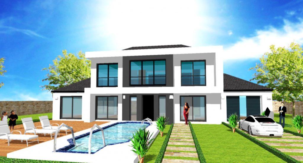 Constructeur Designer de Maisons de Luxe Haut de Gamme Moderne CCMI: plans de permis et construction de maison sur mesure d architecte en ile de france