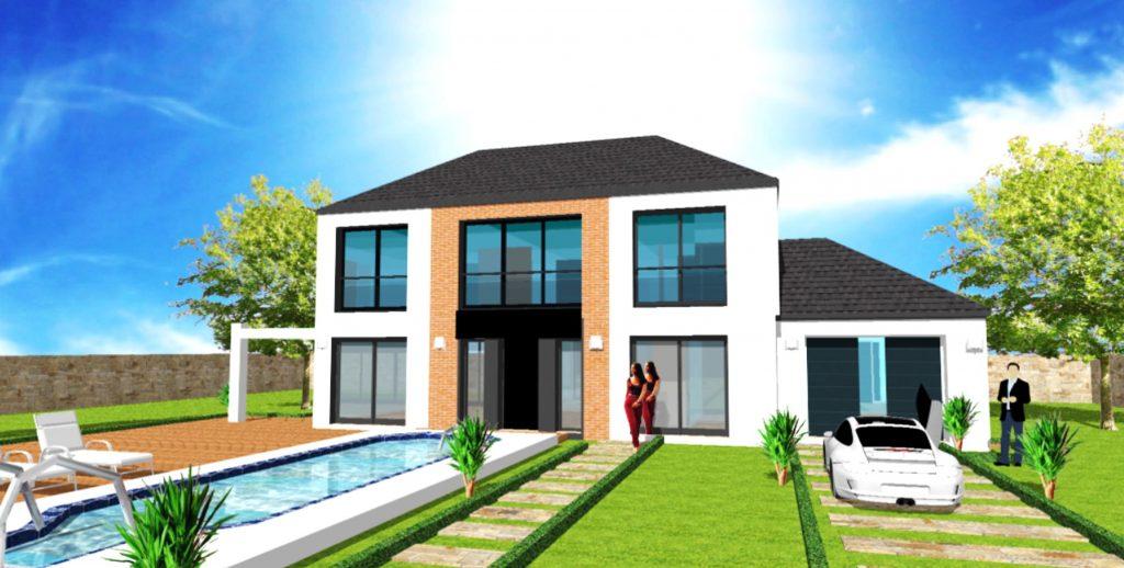 Maison avec vide sur sejour Constructeur Architecte Design Ile de France Maison