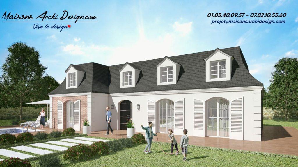 Mansard L Brique Plan modele maison architecture traditionnelle maison haut de gamme sur mesure