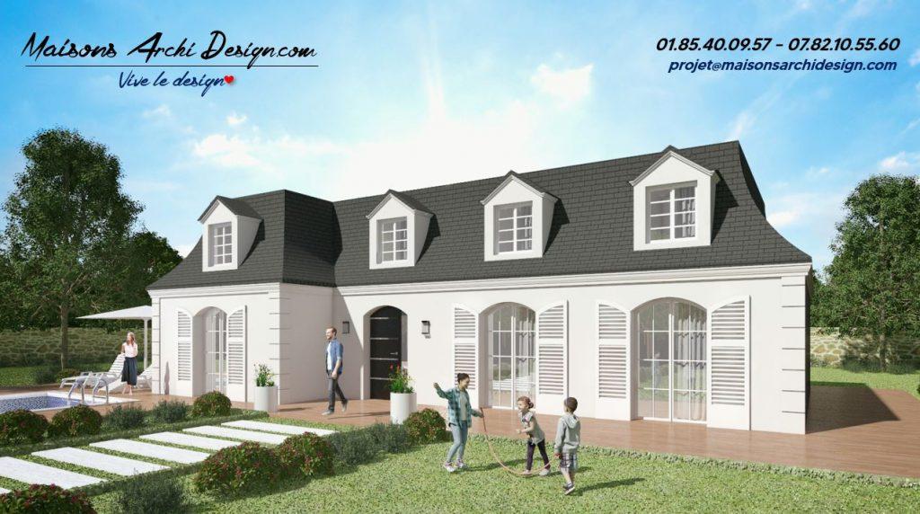 Mansard L Plan modele maison architecture traditionnelle maison de maitre