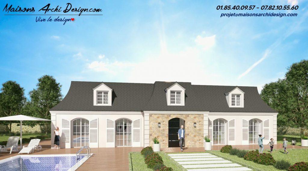 Mansard T Stone Modele et plan de maison mansard design en ile de france par votre constructeur designer