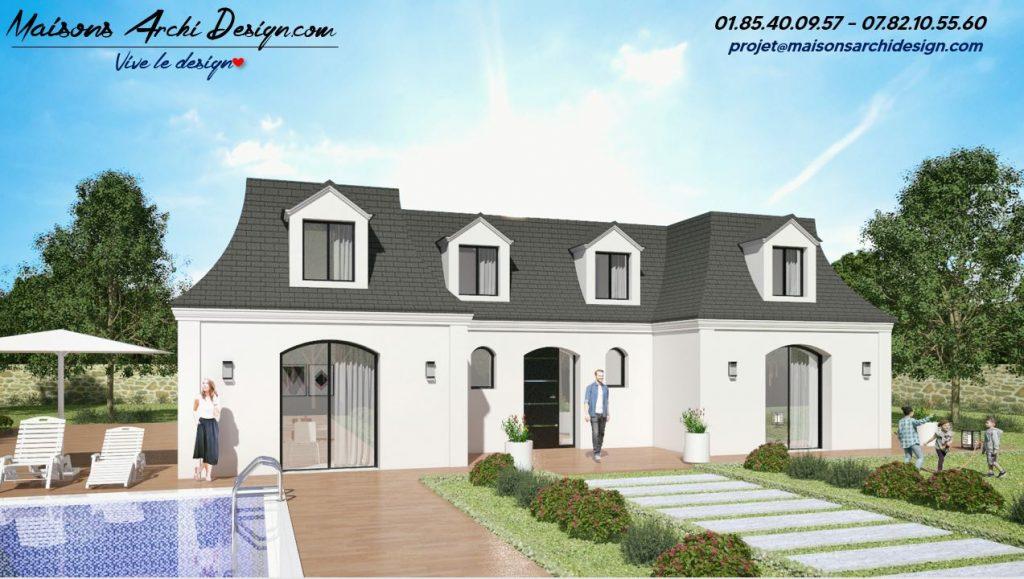 Mansard U Modele maison architecte constructeur plan mansart contemporain modern
