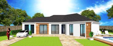Plans, modèles, permis de construire et construction de votre Maison en V sur mesure avec ArchiDesign, prix placé, devis rapide