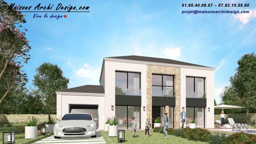 Prestige Loft pierre par votre Constructeur de Maison d'Architecte Design dans les Yvelines 78