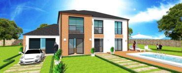 Tout pour faire construire votre Maison en L design moderne plan, modele, permis, construction avec votre constructeur sur mesure
