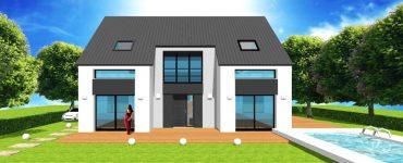 Tout pour faire construire votre maison à toiture ou bardage zinc moderne contemporaine en ile de france plan, devis, prix, permis et construction en CCMI 2 pans 4 pans ou mansard d architecte sur mesure