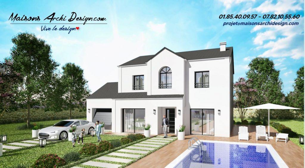 Manoir 1 plan modele maison sur mesure avec etage haut de gamme par votre constructeur design