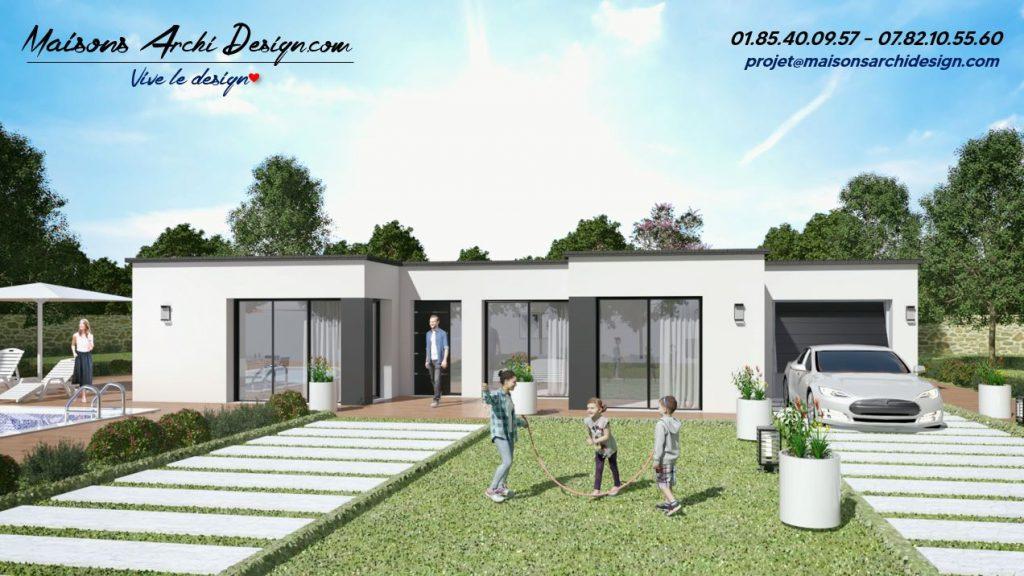 Excellence U Patio TT plain pied sur mesure modele design contemporain toit plat