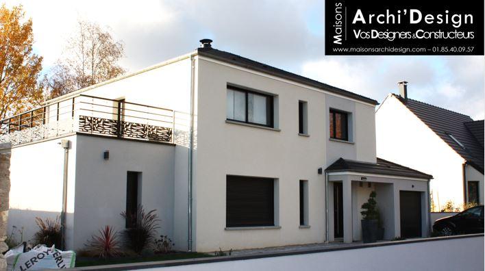 Maison Nae seine et marne tres contemporain 4 pans a faible pente sortie de toit contemporaine decroche toit plat archidesign
