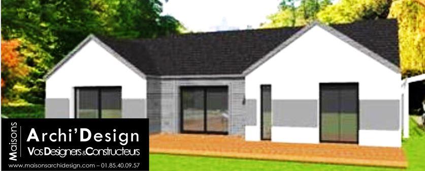Maison Patio 2 pans 7016 Archidesign