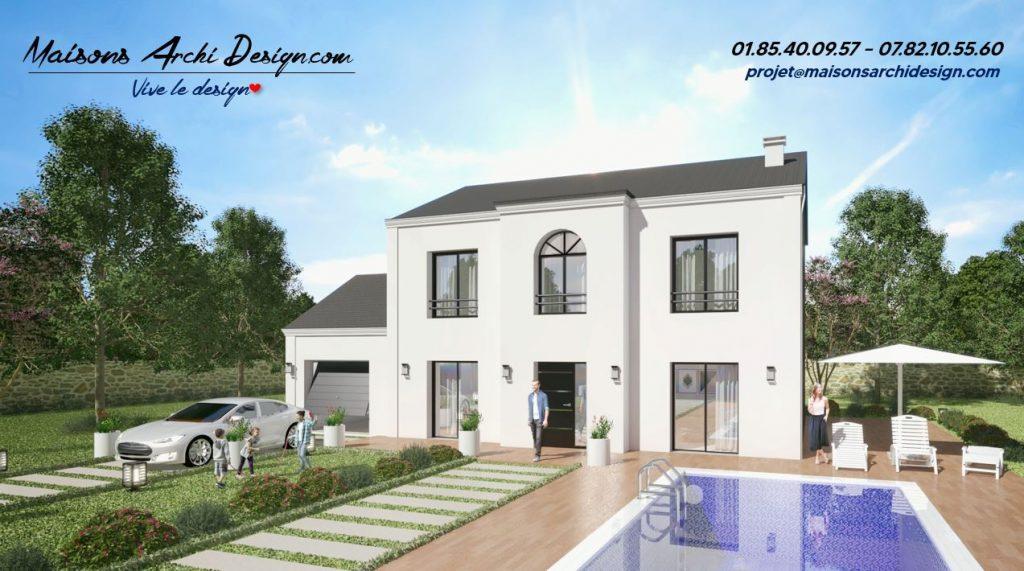 Elegance T 4 pans modele de maison 4 pans plan contemporain