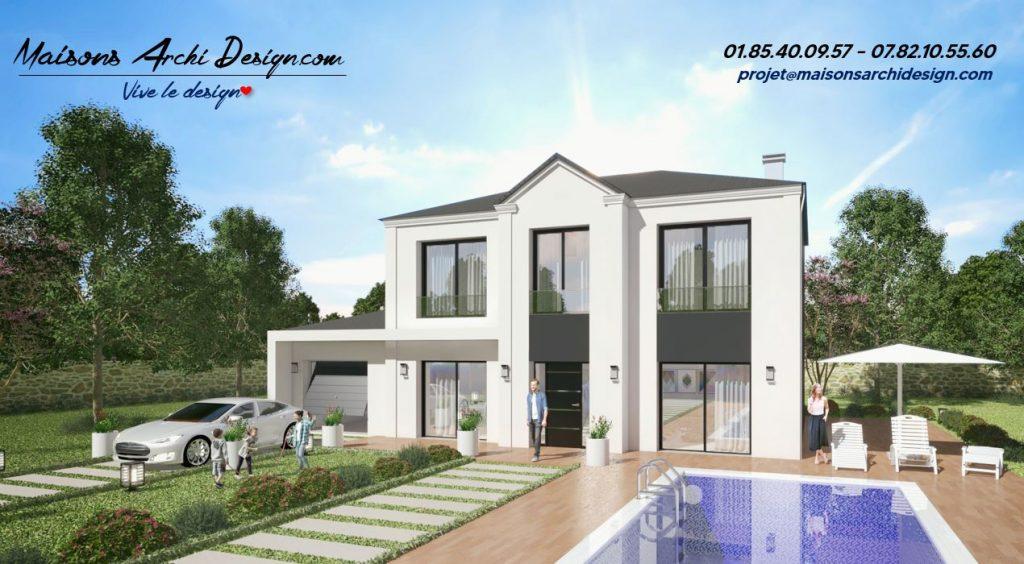 Elegance T Loft 4 pans 2 modele de maison 4 pans plan contemporain