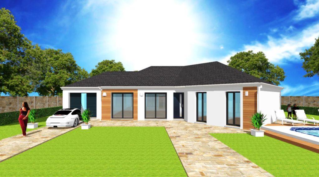 Modèle Excellence V 4 pans Plain Pied Moderne Sur Mesure Bardage Par Votre Constructeur ArchiDesign