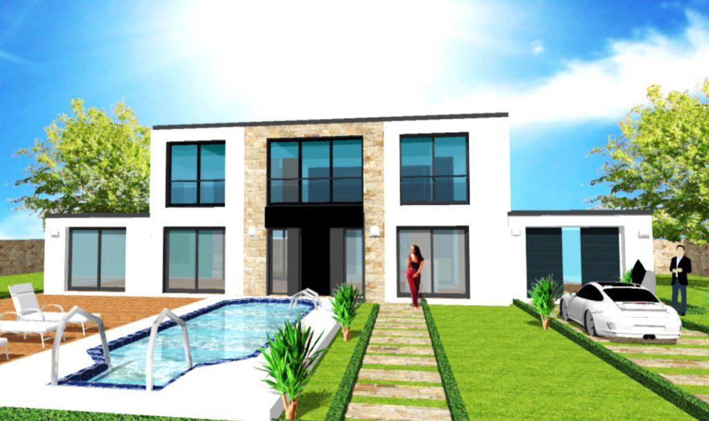 Maison Toit Plat Toiture Terrasse Constructeur Architecte Design Ile de France (10)