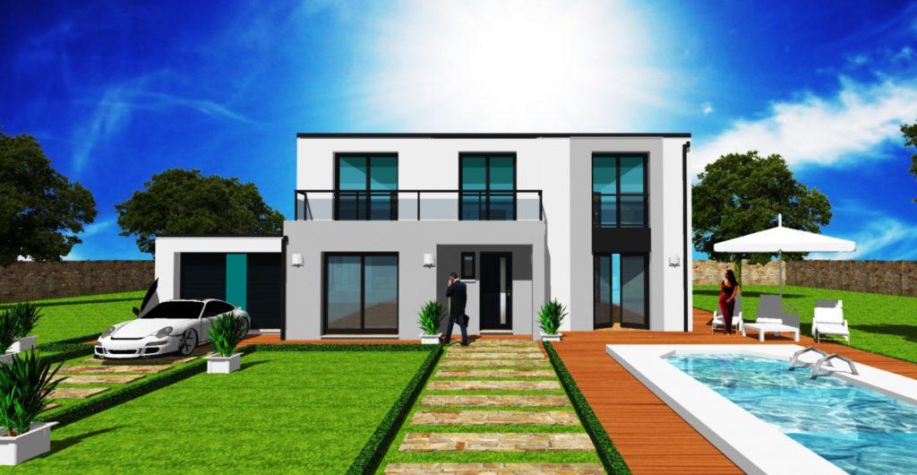 Maison Toit Plat Toiture Terrasse Constructeur Architecte Design Ile de France (11)
