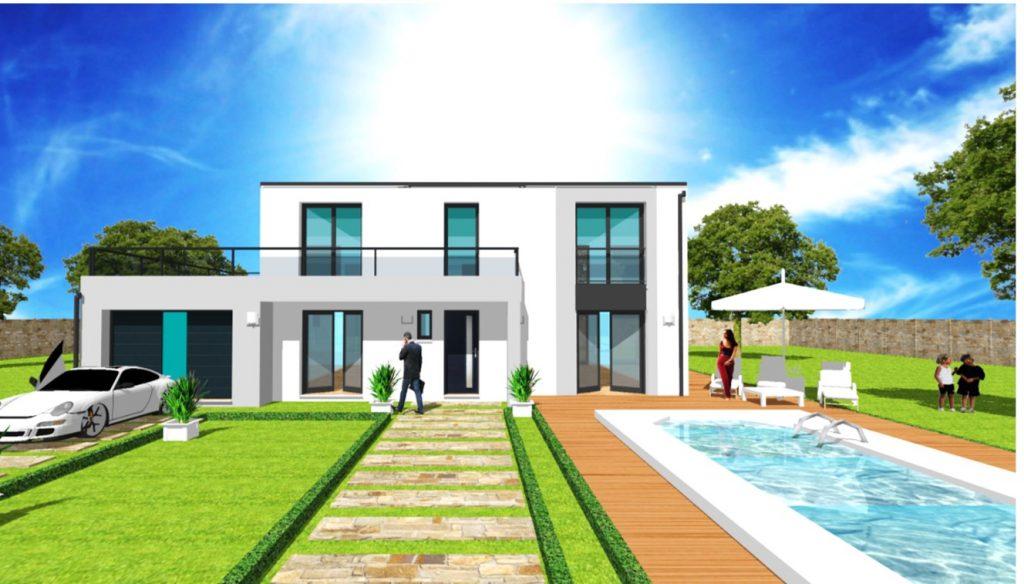 Maison Toit Plat Toiture Terrasse Constructeur Architecte Design Ile de France (12)