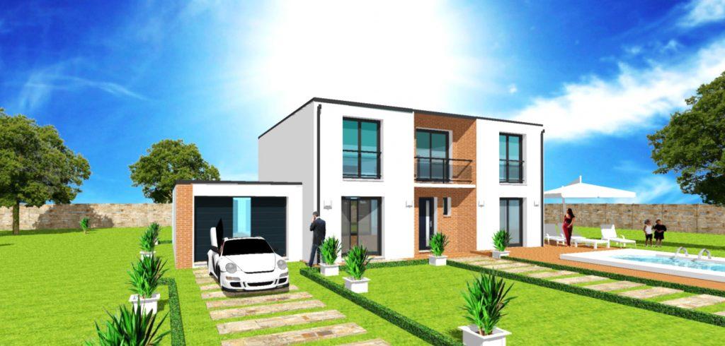 Maison Toit Plat Toiture Terrasse Constructeur Architecte Design Ile de France (2)