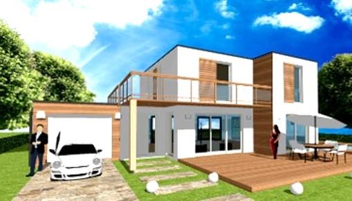 Maison Toit Plat Toiture Terrasse Constructeur Architecte Design Ile de France (3)