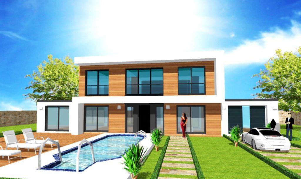 Maison Toit Plat Toiture Terrasse Constructeur Architecte Design Ile de France (6)