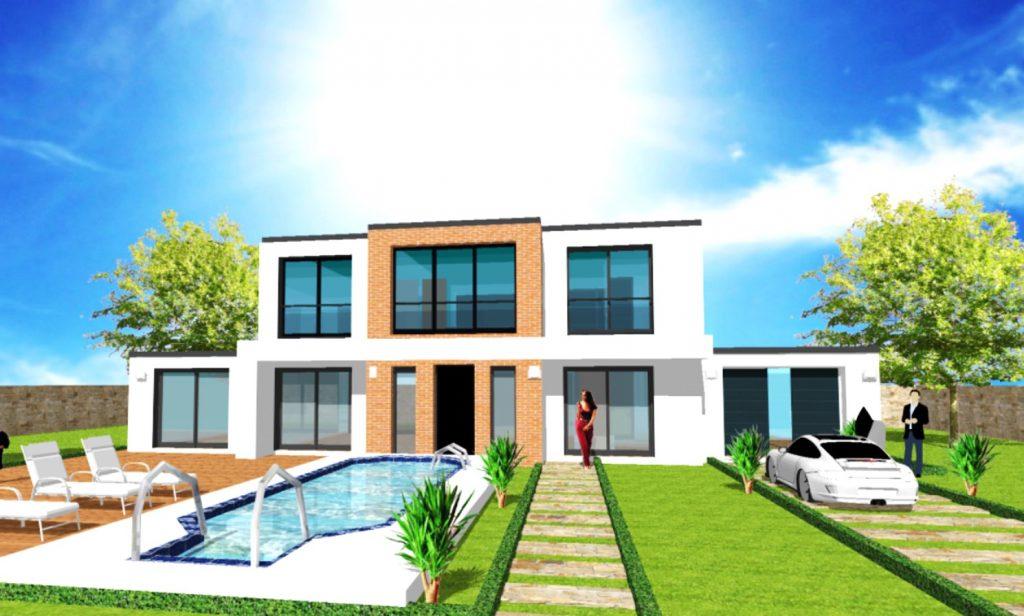 Maison Toit Plat Toiture Terrasse Constructeur Architecte Design Ile de France (7)