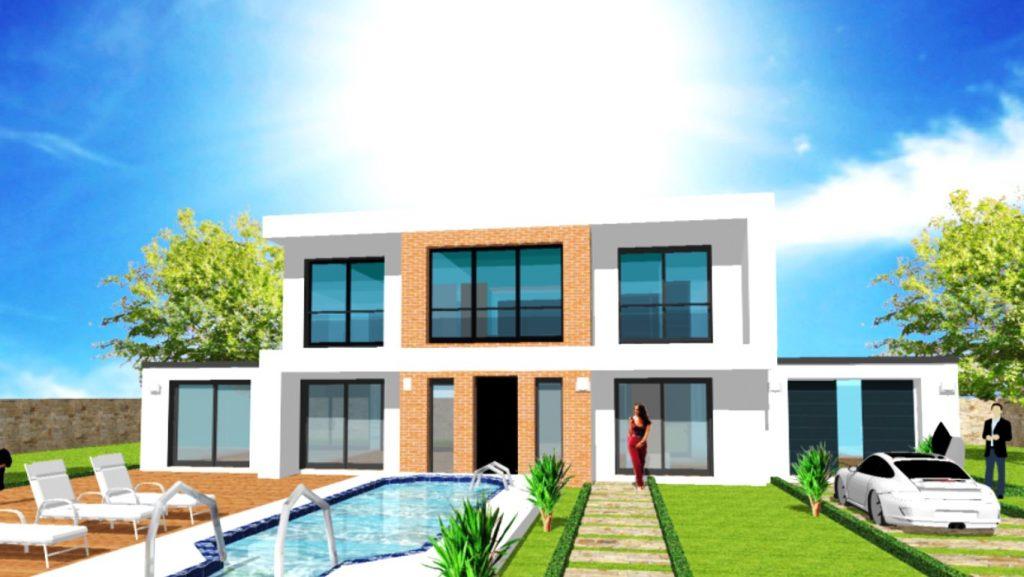 Maison Toit Plat Toiture Terrasse Constructeur Architecte Design Ile de France (8)