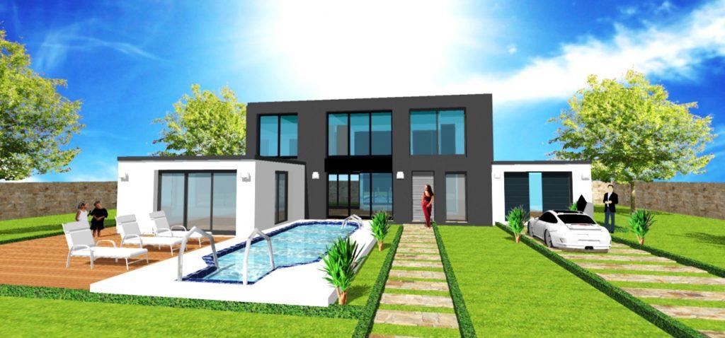 Maison Toit Plat Toiture Terrasse Constructeur Architecte Design Ile de France (9)