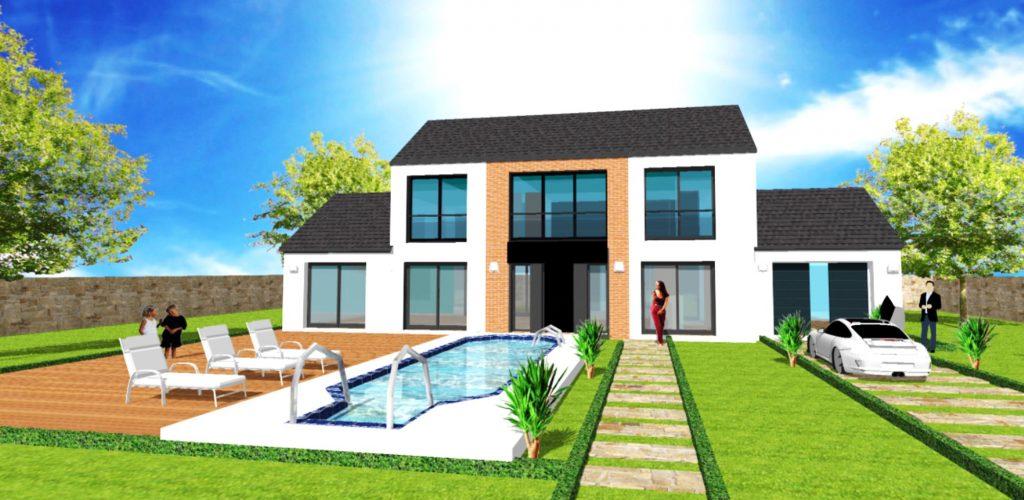 Maison Prestige XL Loft toit 2 pans Style Atelier d Artiste et Verriere par ArchiDesign