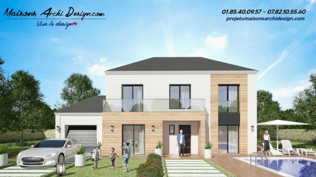 Prestige 2 4 pans Wood plan modele maison design 4 pans