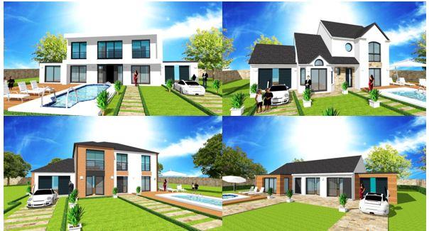 Maison Avec 11m De Facade Plan Modele Et Construction Par Archidesign