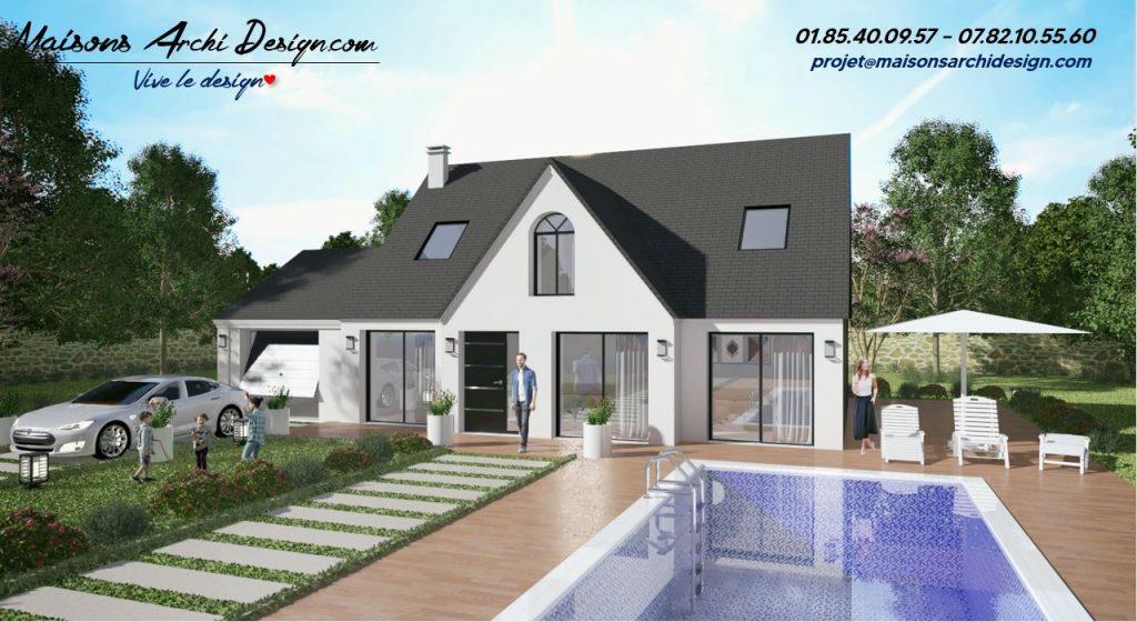 Altesse T Elipse (2) plan maison moderne combles