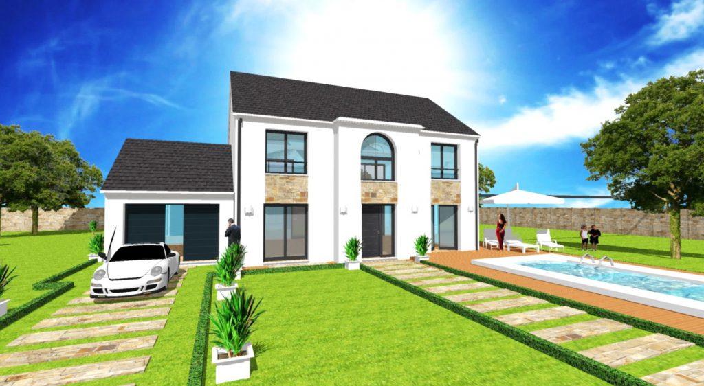 Maison a Etage Constructeur Architecte Design Ile de France Elegance Avec Croupe