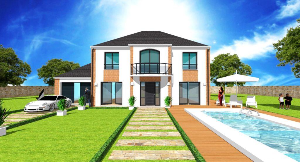 Maison a Etage Constructeur Architecte Design Ile de France Elegance 2