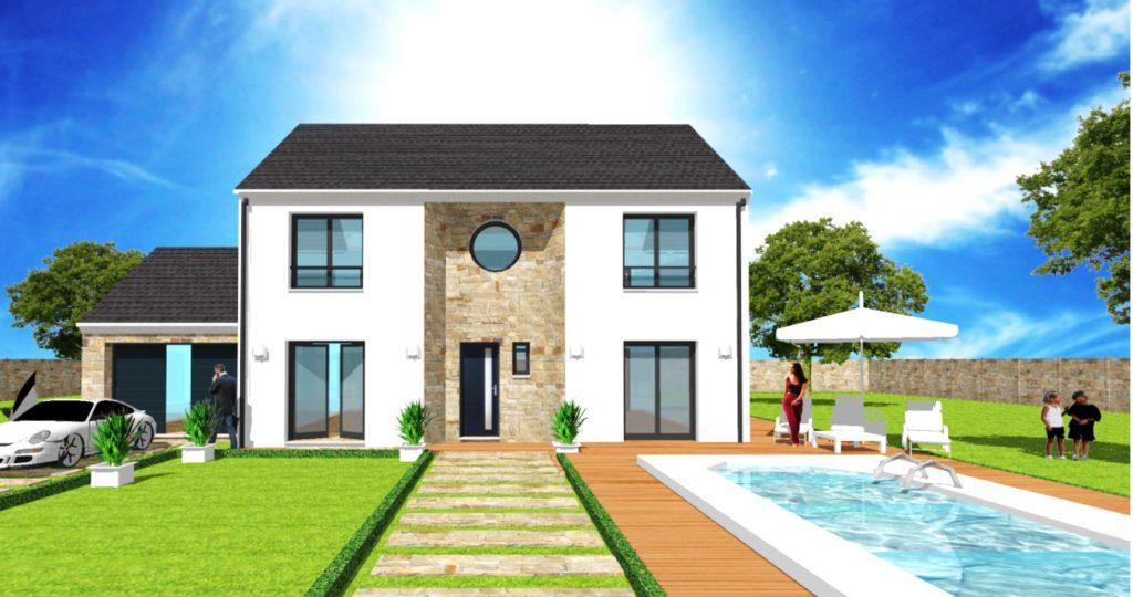 Maison a Etage Constructeur Architecte Design Ile de France Maison Elegance U Ellipse
