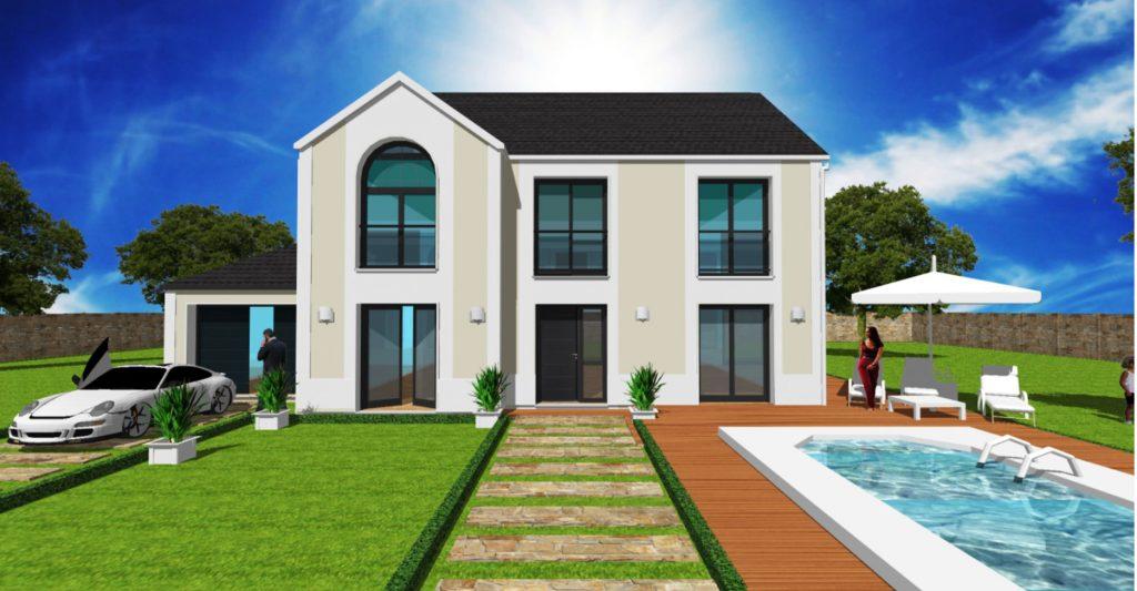 Maison a Etage Constructeur Architecte Design Ile de France Maison Elegance U Version Majeste