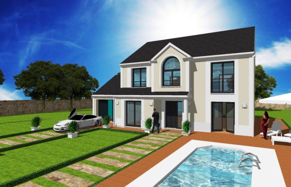 Maison a Etage Constructeur Architecte Design Ile de France Maison Manoir Majeste