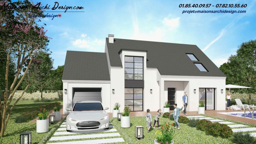 Prestance 2 TT plan modele maison combles amenage toit plat