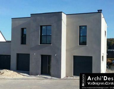 78 Bazemont Construction par Constructeur Design Architecte d une maison neuve individuelle sur mesure contemporaine moderne toit terrasse