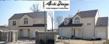 91 Essonne Construction par Constructeur Design Architecte d une maison neuve individuelle sur mesure contemporaine moderne