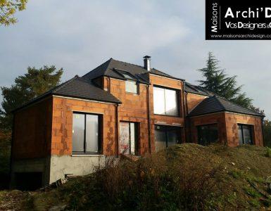 94 Santeny Construction par Constructeur Design Architecte d une maison neuve individuelle sur mesure contemporaine moderne 4 pans R Combles avec decroches