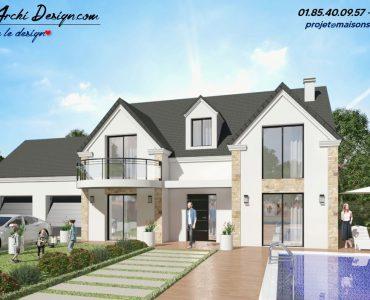 Constructeur maison sur mesure neuve moderne design toit plat toit 3 pans architecte (4)