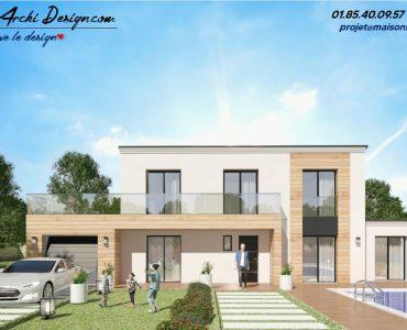 Constructeur maison sur mesure neuve moderne design toit plat toit 3 pans architecte (7)