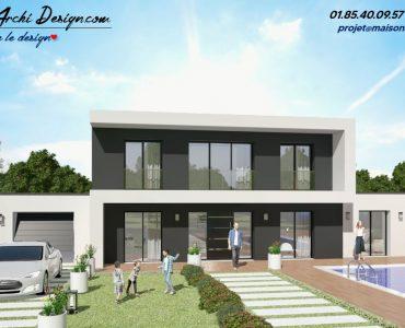 Constructeur maison sur mesure neuve moderne design toit plat toit 3 pans architecte (9)